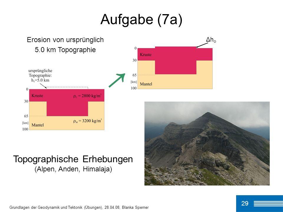 Aufgabe (7a) Topographische Erhebungen