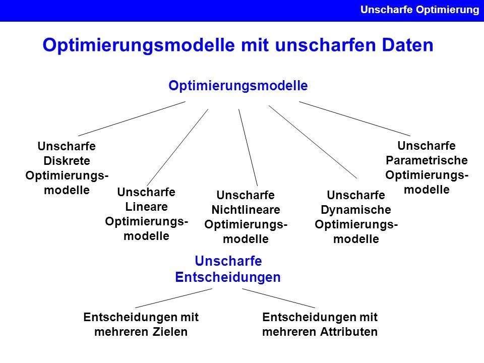Optimierungsmodelle mit unscharfen Daten