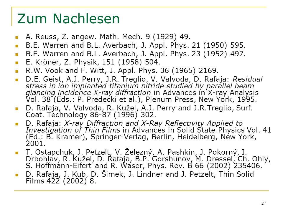 Zum Nachlesen A. Reuss, Z. angew. Math. Mech. 9 (1929) 49.