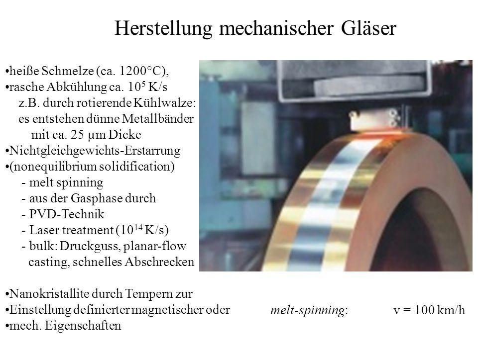 Herstellung mechanischer Gläser