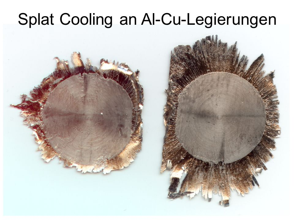 Splat Cooling an Al-Cu-Legierungen