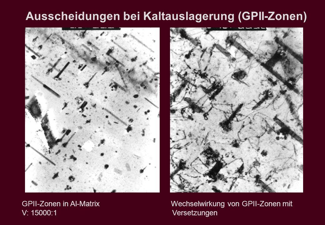 Ausscheidungen bei Kaltauslagerung (GPII-Zonen)