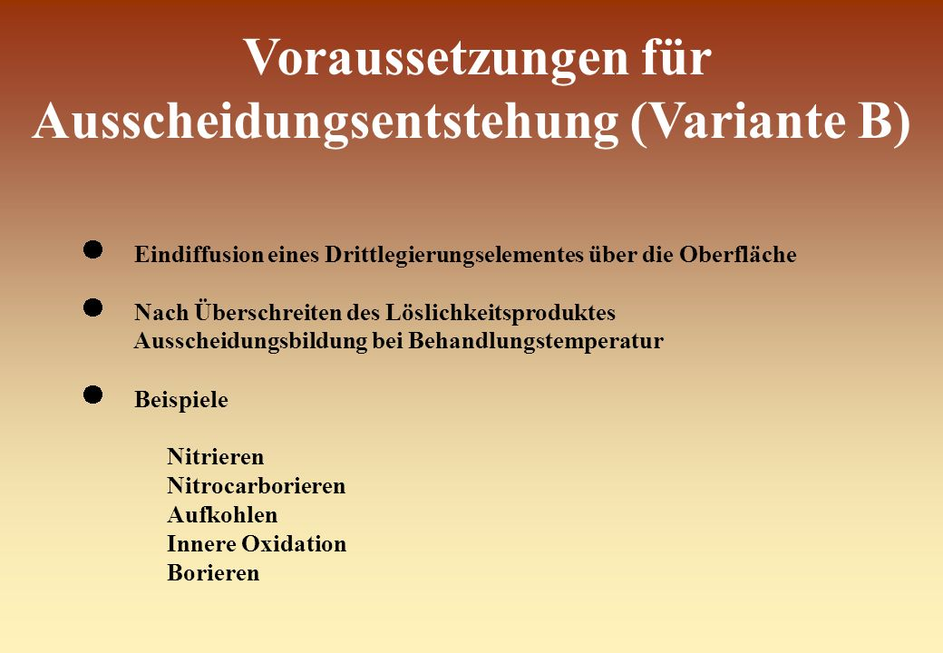 Voraussetzungen für Ausscheidungsentstehung (Variante B)