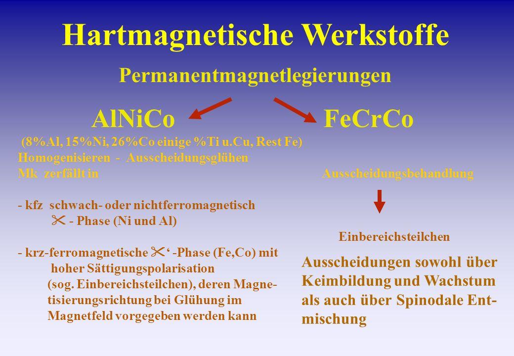 Hartmagnetische Werkstoffe Permanentmagnetlegierungen