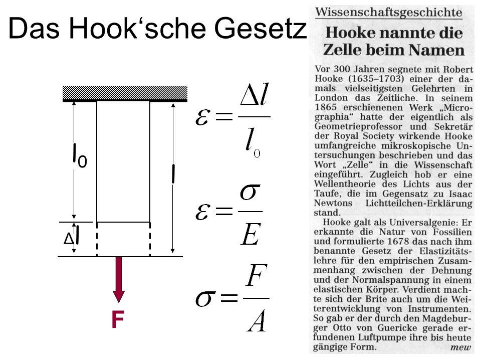 Das Hook'sche Gesetz l0 l Δl F