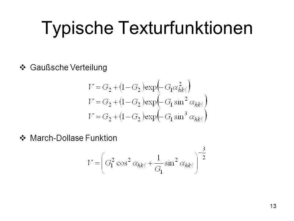 Typische Texturfunktionen