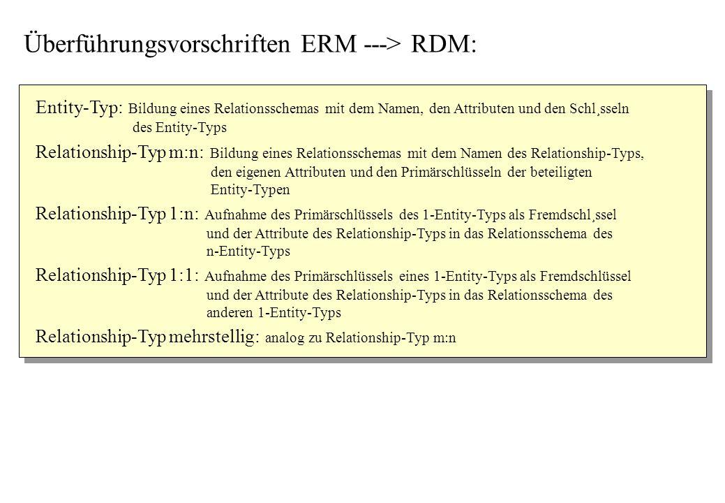 Überführungsvorschriften ERM ---> RDM: