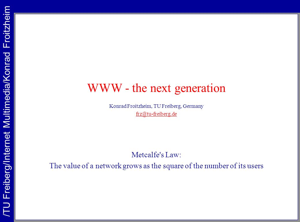 WWW - the next generation