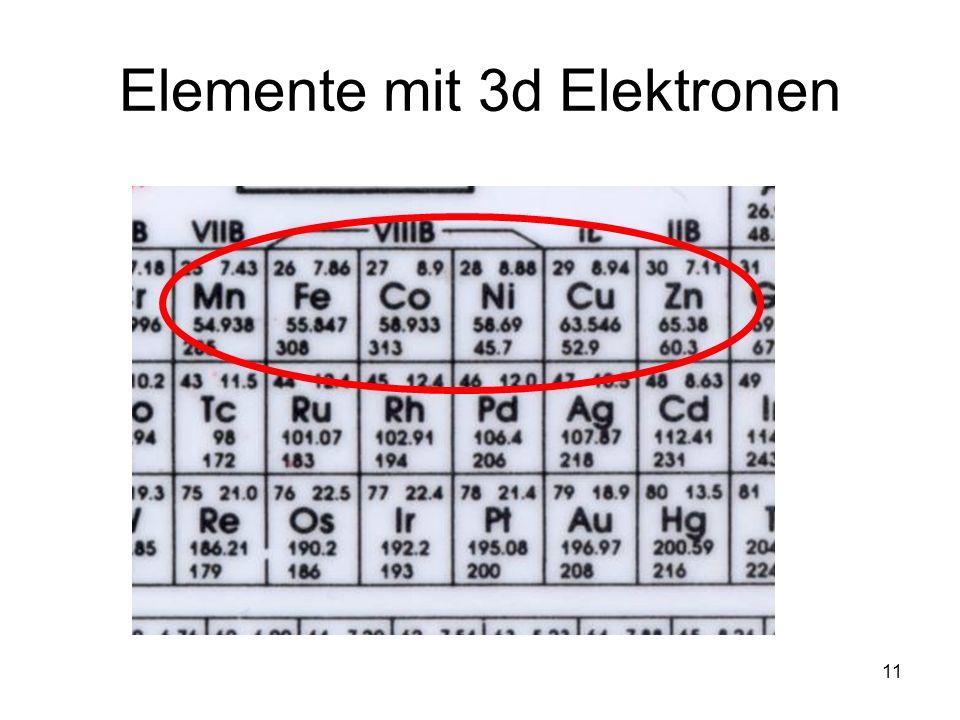 Elemente mit 3d Elektronen
