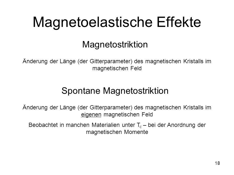 Magnetoelastische Effekte