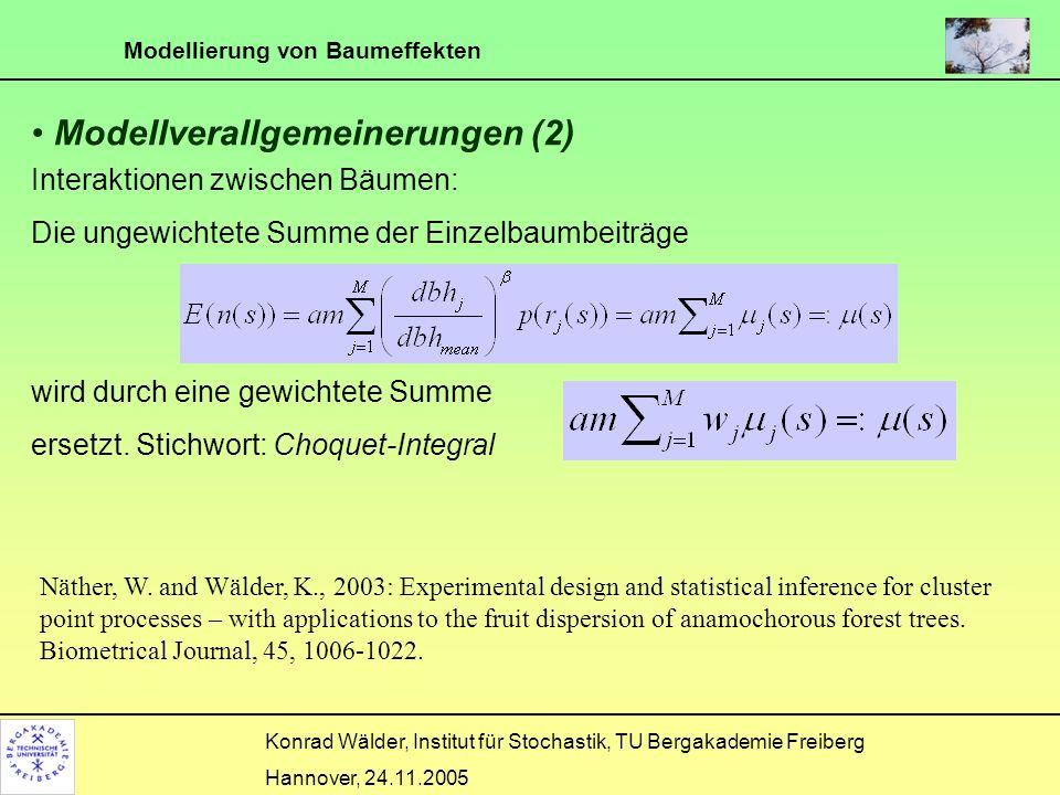 Modellverallgemeinerungen (2)
