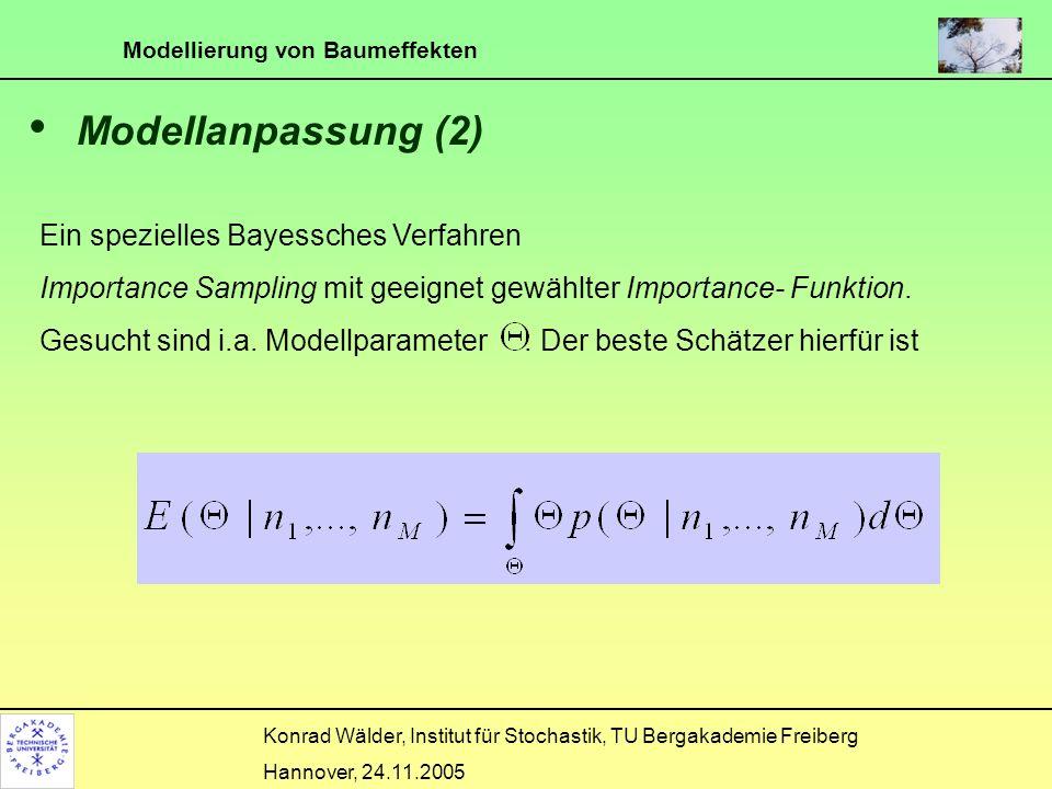 Modellanpassung (2) Ein spezielles Bayessches Verfahren