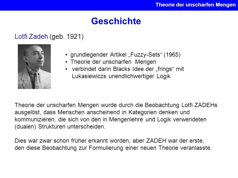 Geschichte Lotfi Zadeh (geb. 1921)