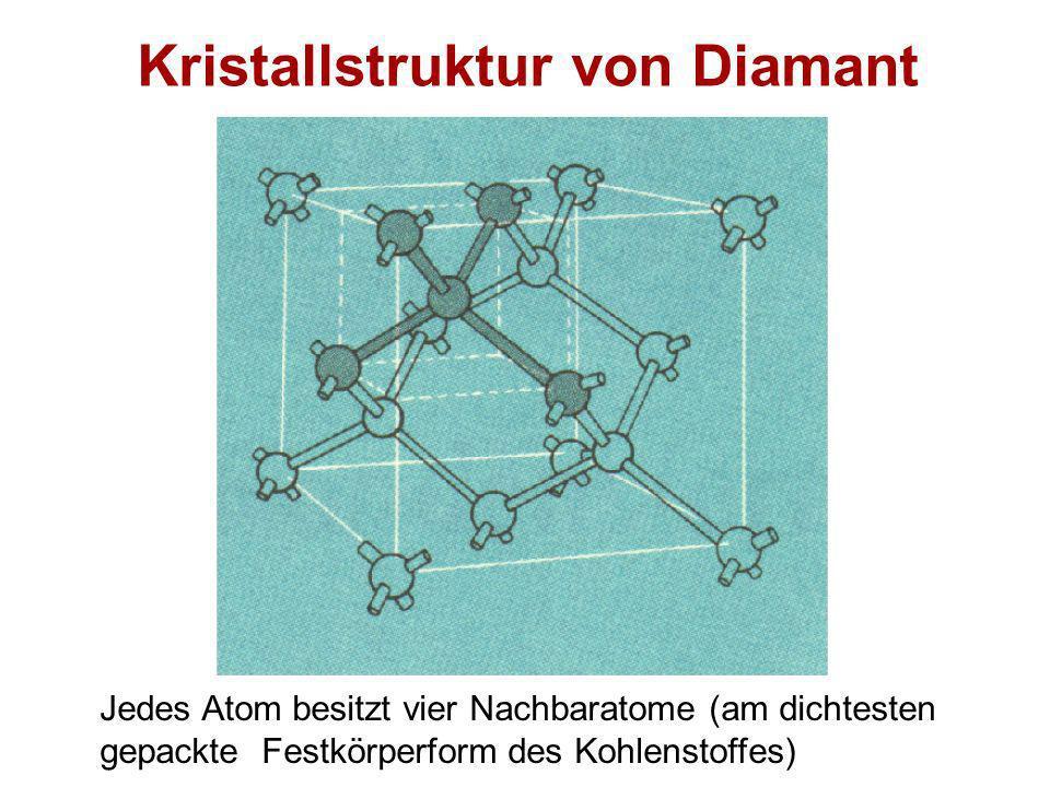 Kristallstruktur von Diamant