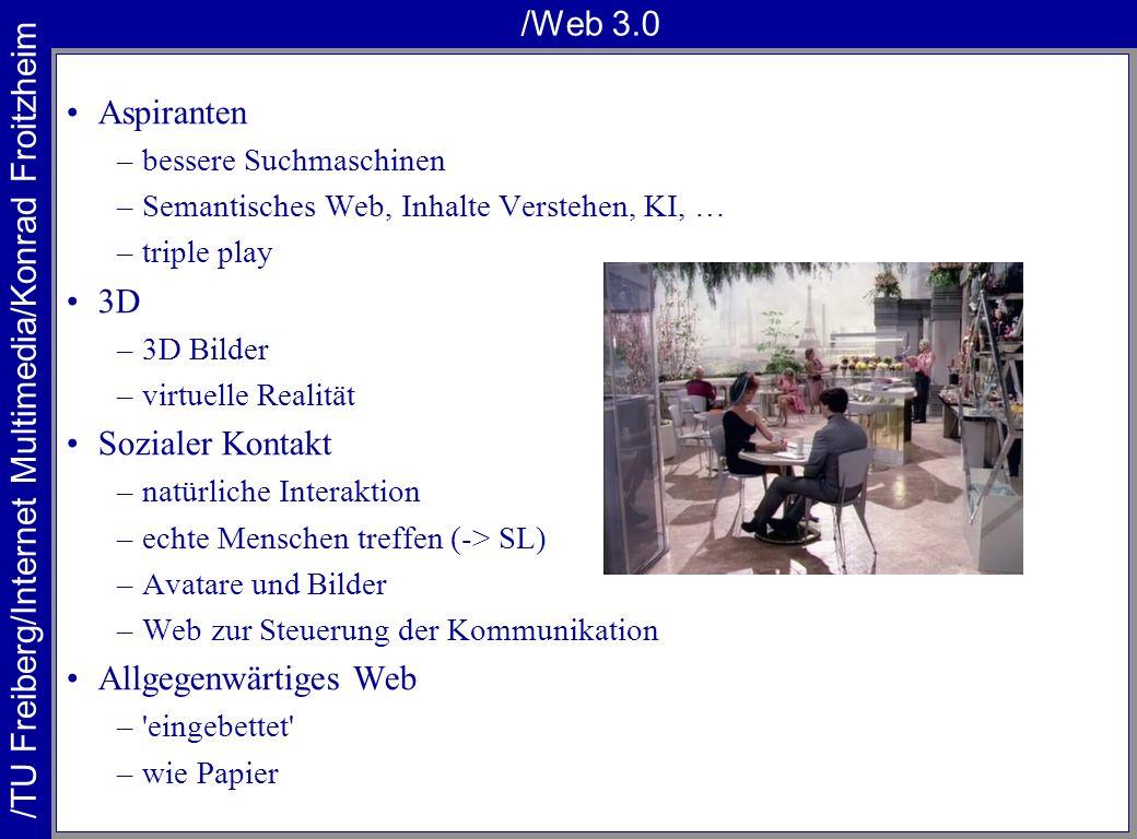 /Web 3.0 Aspiranten 3D Sozialer Kontakt Allgegenwärtiges Web