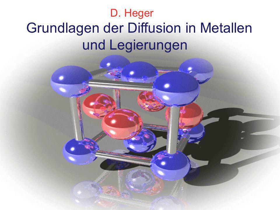 Grundlagen der Diffusion in Metallen und Legierungen