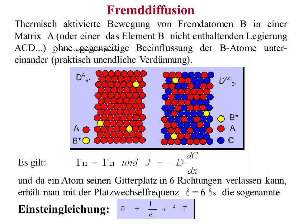 Fremddiffusion Einsteingleichung: