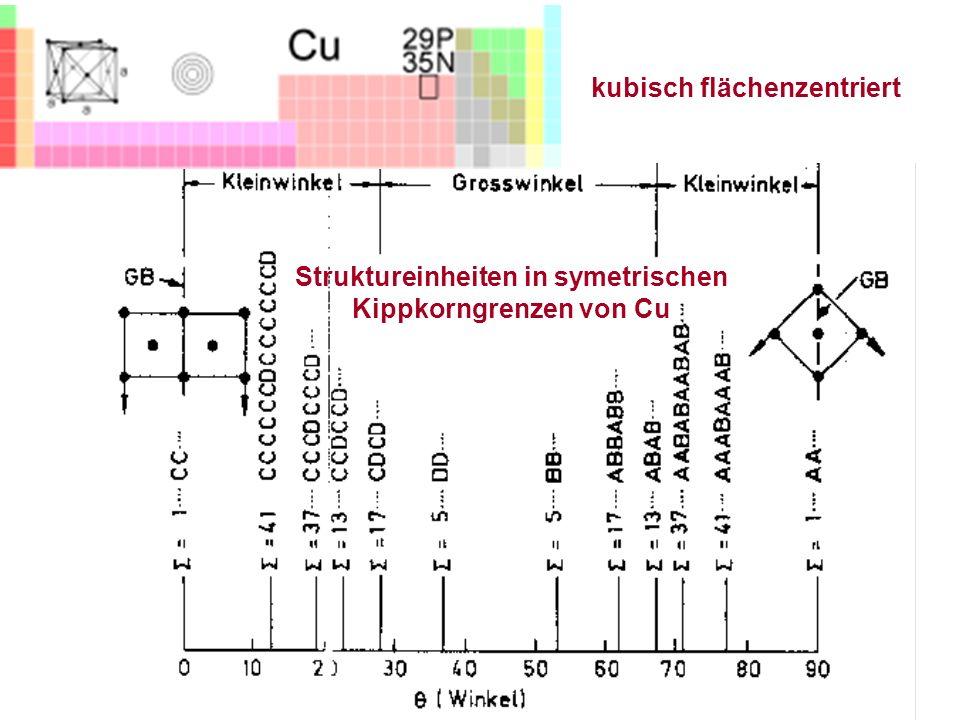 Struktureinheiten in symetrischen Kippkorngrenzen von Cu