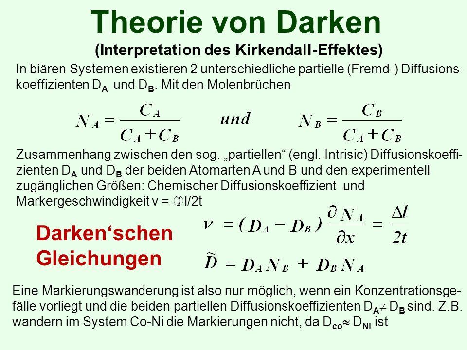 Theorie von Darken Darken'schen Gleichungen
