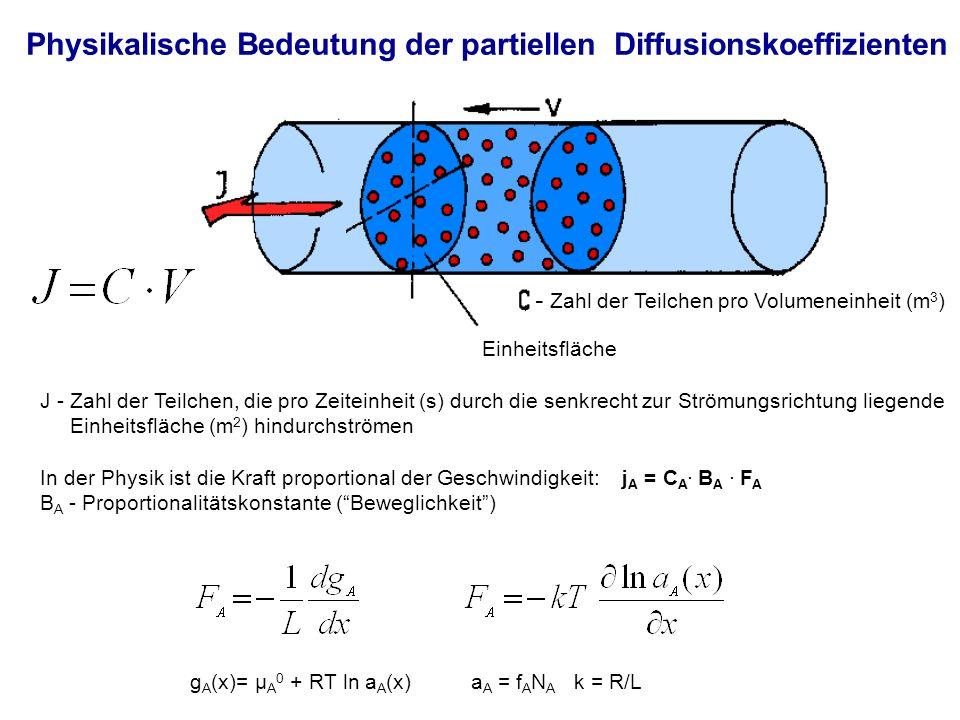 Physikalische Bedeutung der partiellen Diffusionskoeffizienten