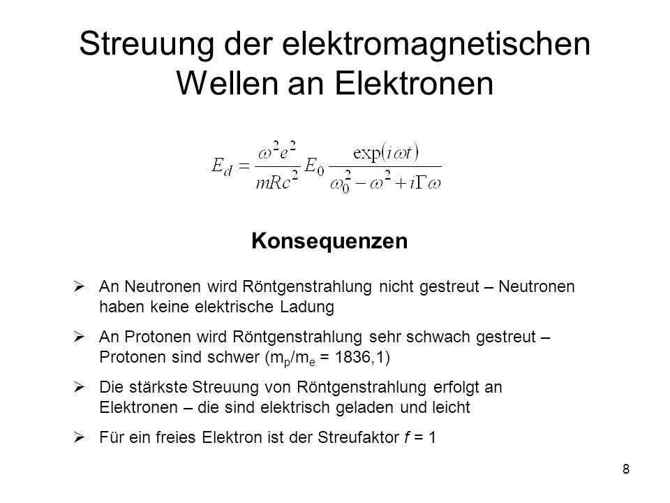 Streuung der elektromagnetischen Wellen an Elektronen