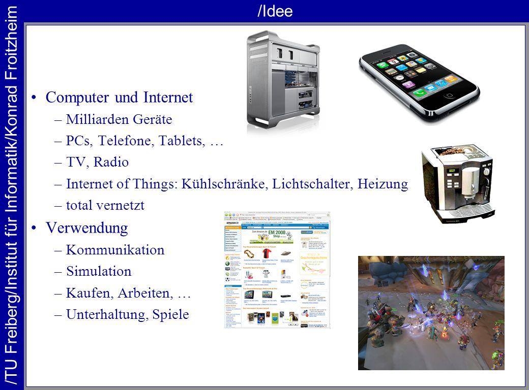 /Idee Computer und Internet Verwendung Milliarden Geräte