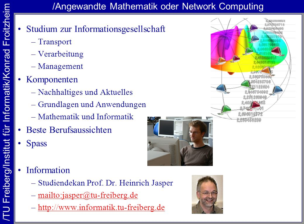 /Angewandte Mathematik oder Network Computing
