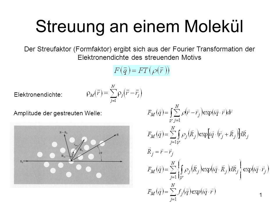 Streuung an einem Molekül