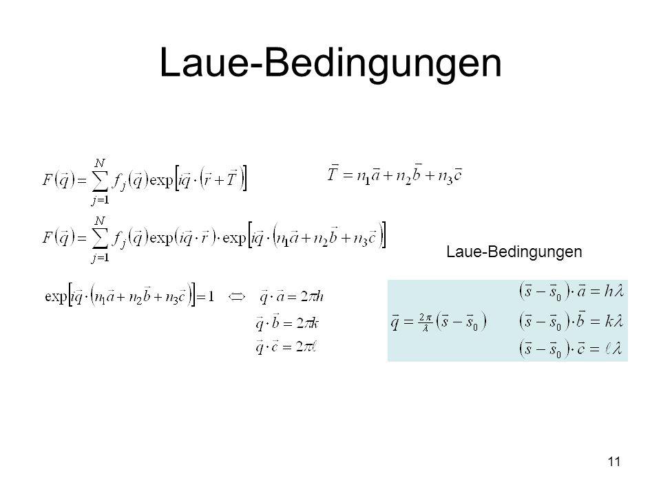 Laue-Bedingungen Laue-Bedingungen