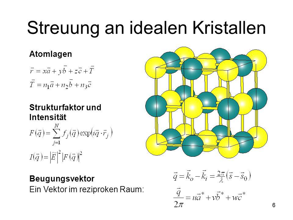 Streuung an idealen Kristallen
