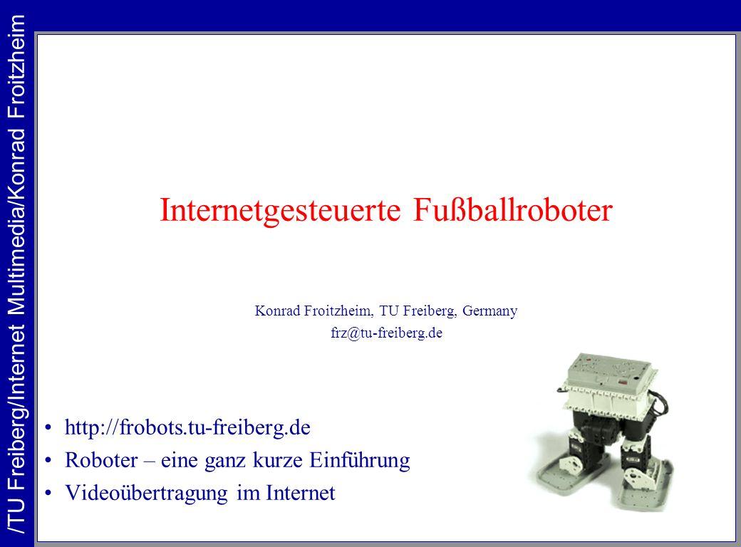 Internetgesteuerte Fußballroboter