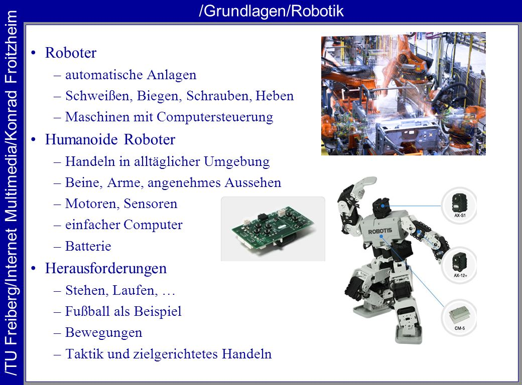 /Grundlagen/Robotik Roboter Humanoide Roboter Herausforderungen