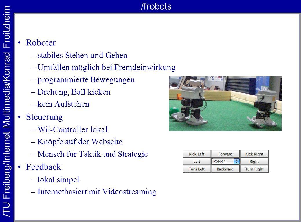 /frobots Roboter Steuerung Feedback stabiles Stehen und Gehen