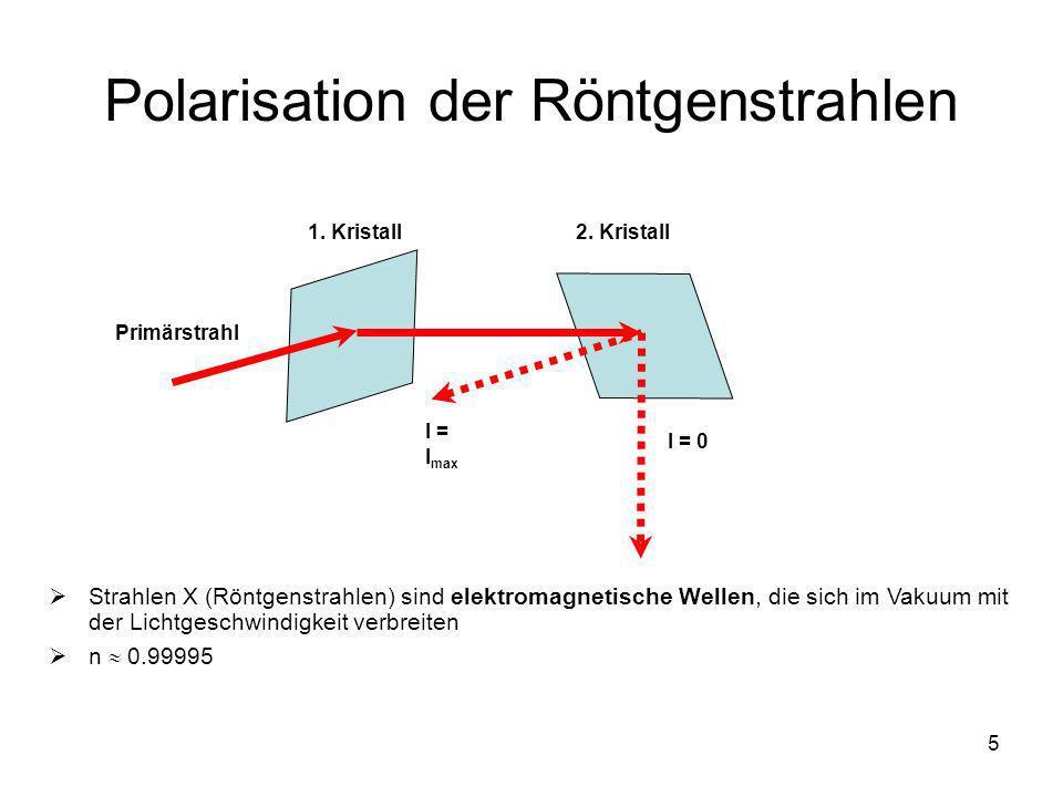 Polarisation der Röntgenstrahlen