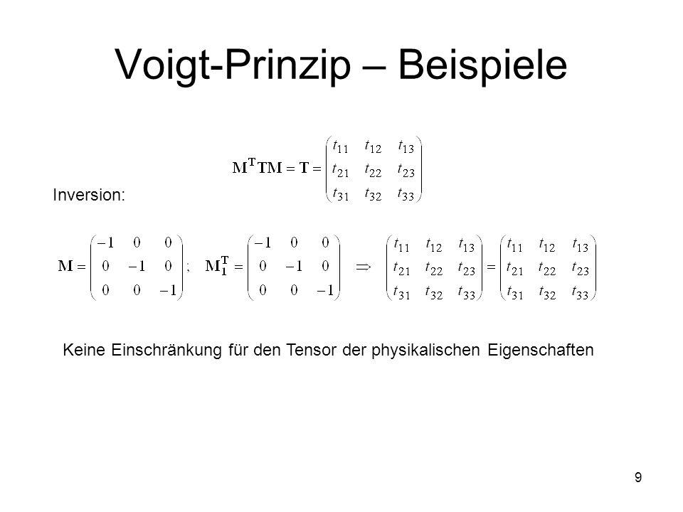 Voigt-Prinzip – Beispiele