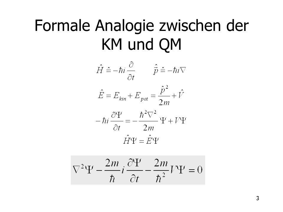 Formale Analogie zwischen der KM und QM