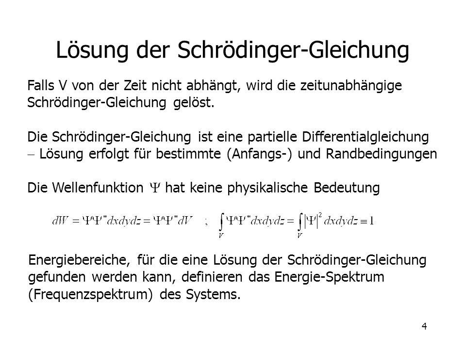 Lösung der Schrödinger-Gleichung