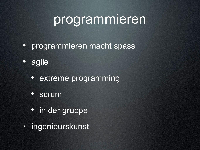 programmieren programmieren macht spass agile extreme programming
