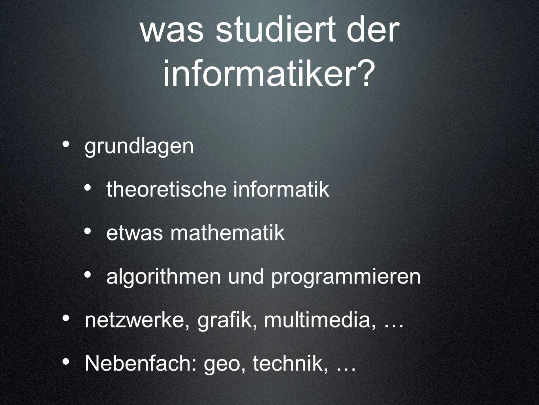 was studiert der informatiker