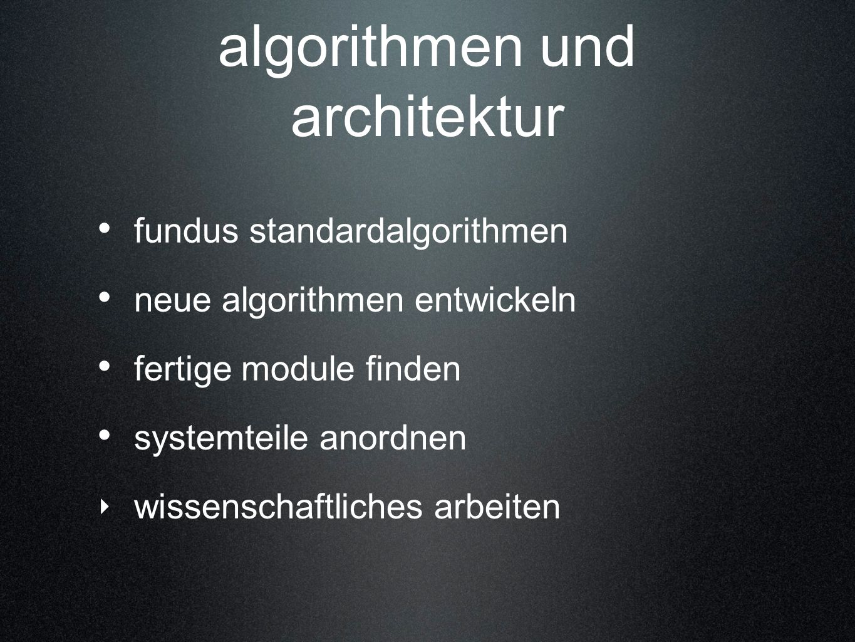 algorithmen und architektur
