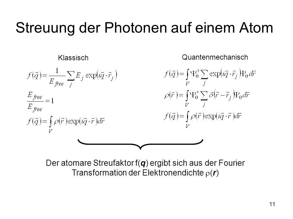 Streuung der Photonen auf einem Atom