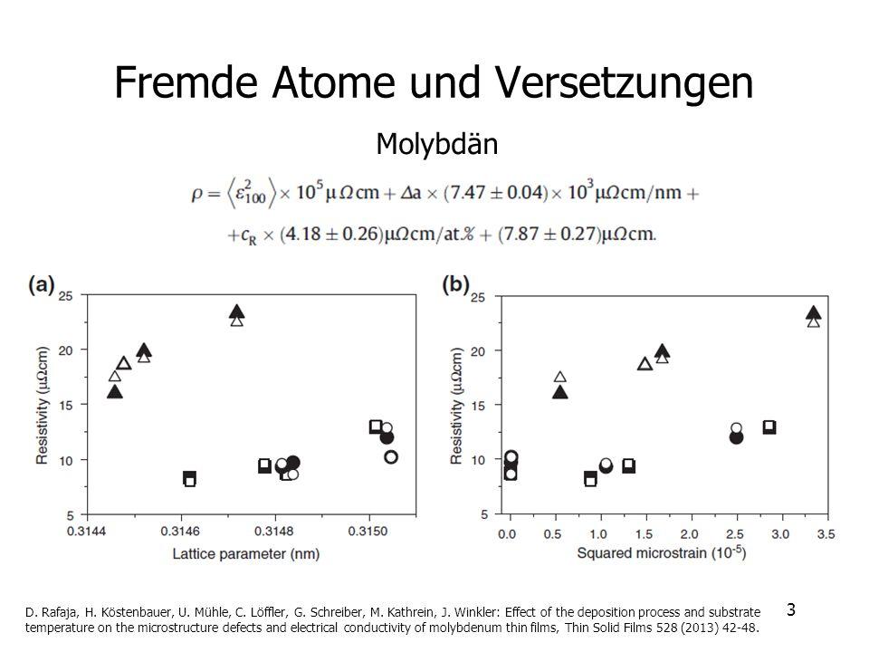 Fremde Atome und Versetzungen