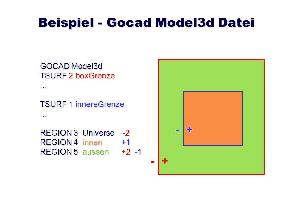 Beispiel - Gocad Model3d Datei