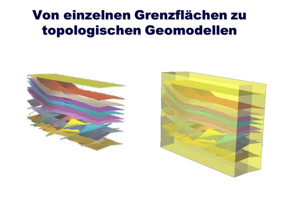 Von einzelnen Grenzflächen zu topologischen Geomodellen