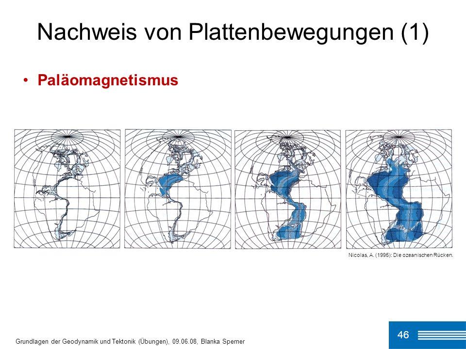 Nachweis von Plattenbewegungen (1)