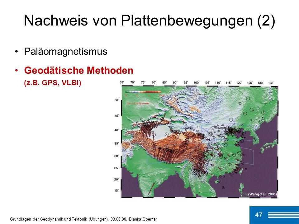 Nachweis von Plattenbewegungen (2)
