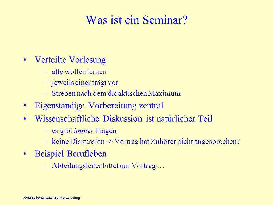 Was ist ein Seminar Verteilte Vorlesung