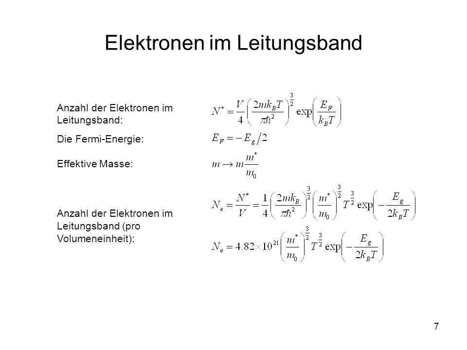 Elektronen im Leitungsband