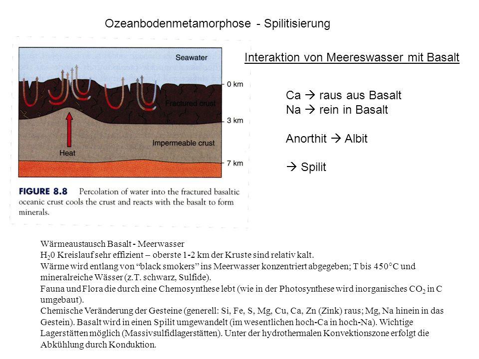 Ozeanbodenmetamorphose - Spilitisierung