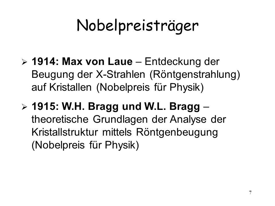 Nobelpreisträger 1914: Max von Laue – Entdeckung der Beugung der X-Strahlen (Röntgenstrahlung) auf Kristallen (Nobelpreis für Physik)